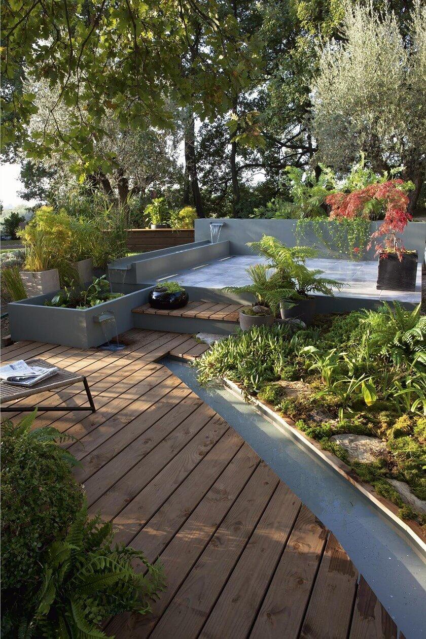 jardin zen terrasse bois